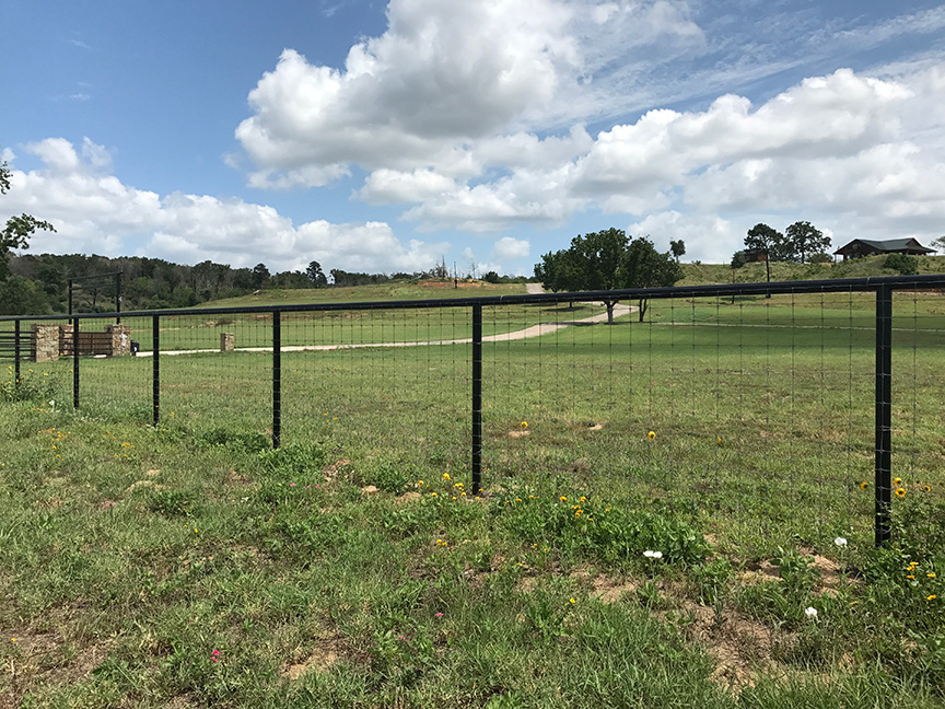 steel pipe ranch fence Austin